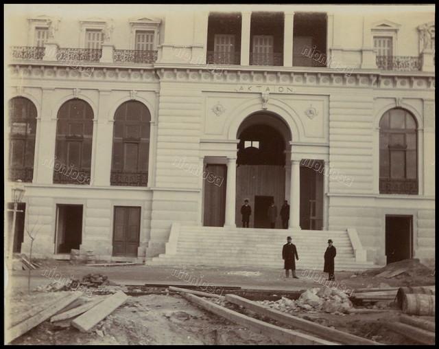"""Ξενοδοχείο """"Ακταίον"""", Νέο Φάληρο, c.1900."""