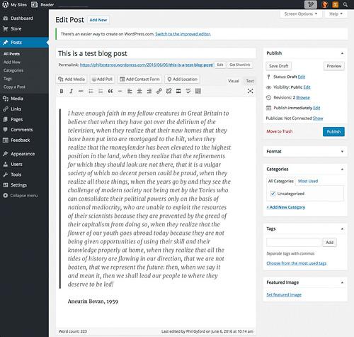 WordPress Admin - Edit Post