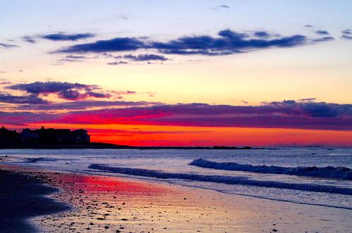 ocean sea beach water clouds sunrise dawn seaside newengland newhampshire northbeach hampton seashore seacoast