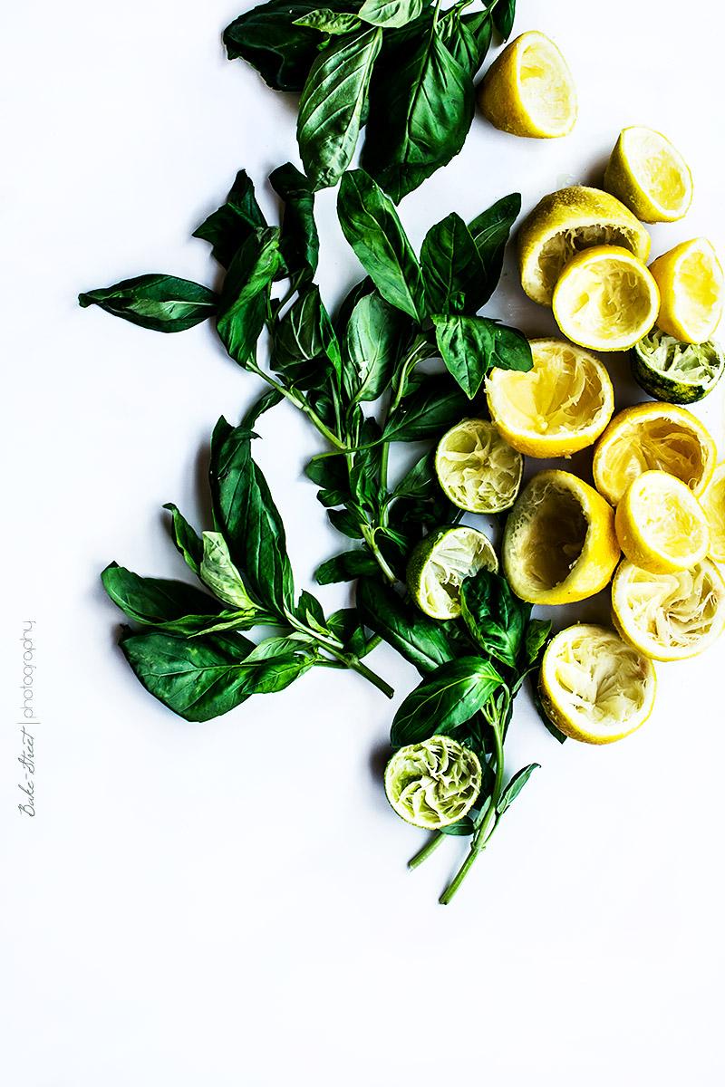 Tarta de albahaca y limón