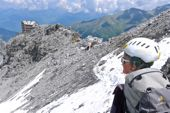 Ortler, Payerhütte, 3029 m, am Tabarettagrat. Foto: Günther Härter.
