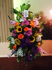Colorful Standing Spray for Funeral