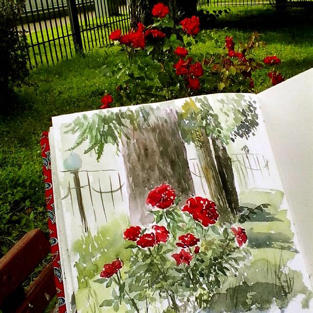 Зарисовка в Малом Розарии, Сокольники, Москва