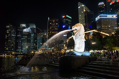 The famous Singapore Merlion