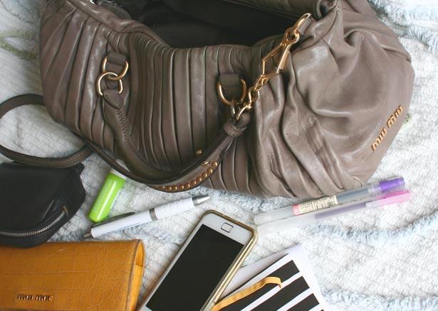 miu bag stuff