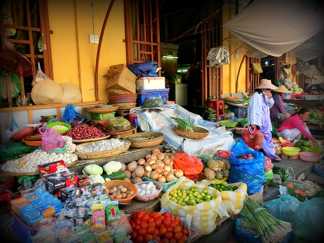 The central market in Hoi An, Vietnam