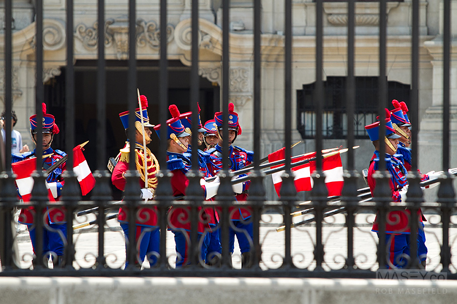 Plenty of colour and fanfare accompanied the changing of the guard.