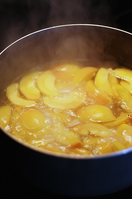 peaches, poaching