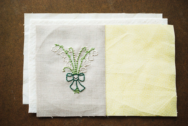 Lily of the Valley Mug Rug