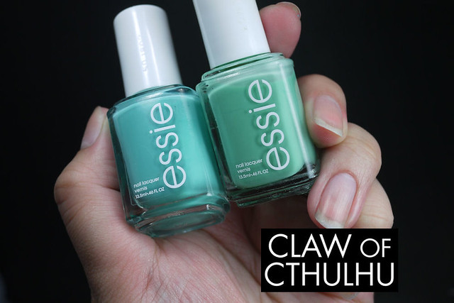 Essie Where's My Chauffeur vs. Essie Turquoise and Caicos