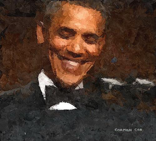 U.S. President Barack Obama laughs while speaking at the White House Correspondents Association Dinner in Washington April 27, 2013.