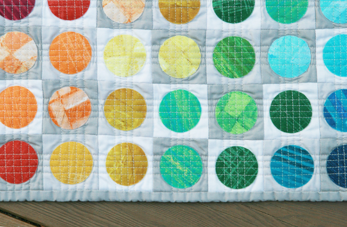 Circular Edges Mini Quilt ~ Washed