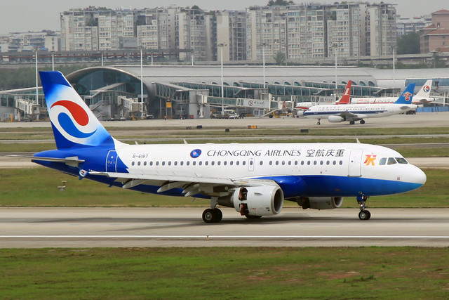 Chongqing Airlines Airbus A319-115 B-6187