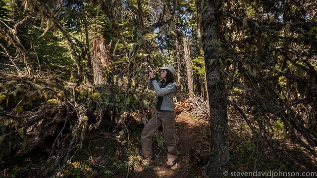 Anna Maria on trail to Hobart Bluff, Cascade-Siskiyou National Monument