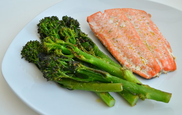 Roast Broccolini & Salmon