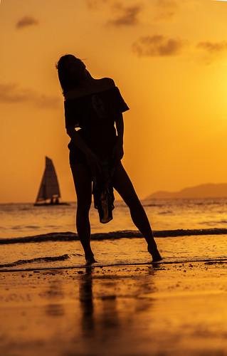 sunset girl island paradise sanya hainan закат рай остров китай canoneos60d