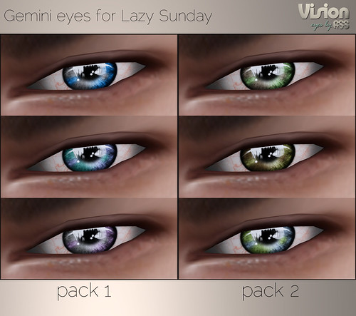 Vision by A:S:S - Gemini eyes for Lazy Sunday by Pho Vinternatt