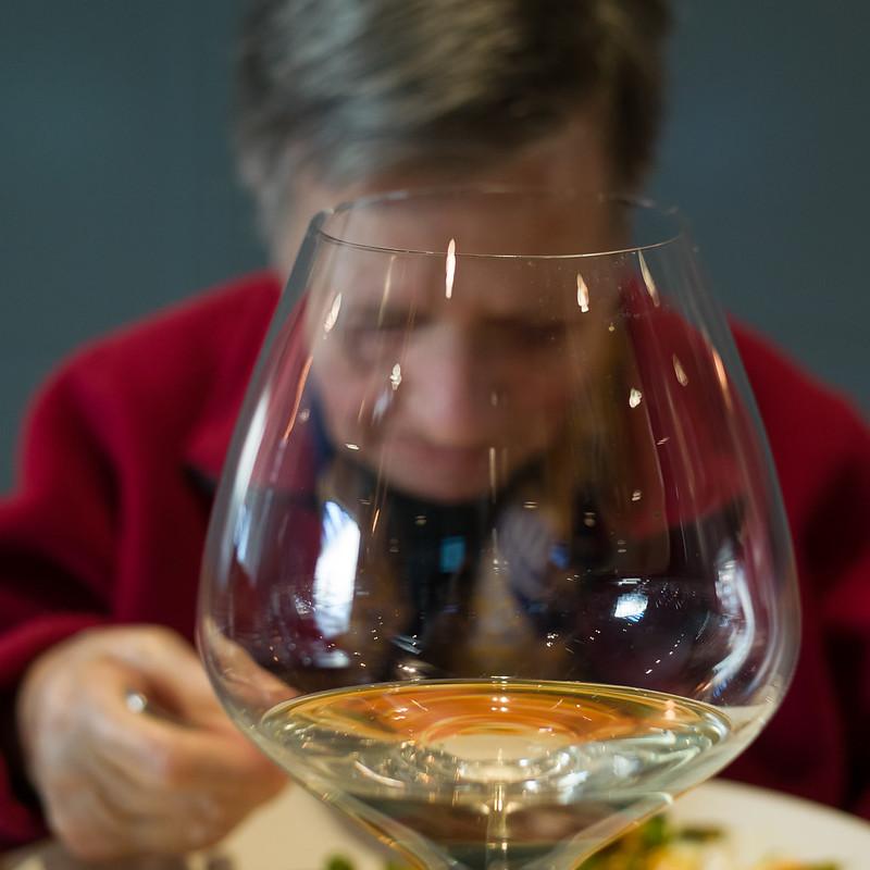 Birthday dinner through wine