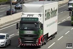 Volvo FH 6x2 Tractor - PX61 BKV - Lilly Mai - Eddie Stobart - M1 J10 Luton - Steven Gray - IMG_9493