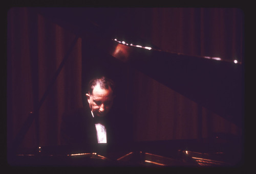 Dr Rene Frank at piano Founders stage 1965