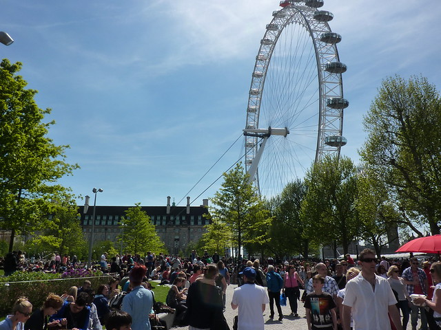 The London Eye and a heaving South Bank