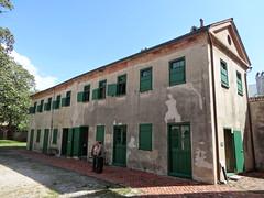 laundry and kitchens below; slave quarters above. Aiken-Rhett house Charleston
