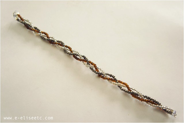 diy seed bead braid bracelet 7