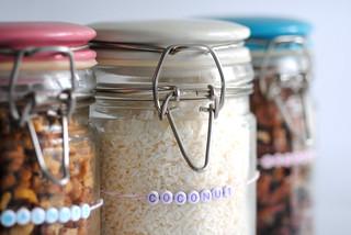Coconut bead label