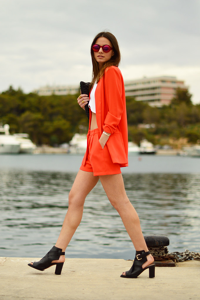 zina, fashionvibe, sea, view, orange, gina tricot, zara