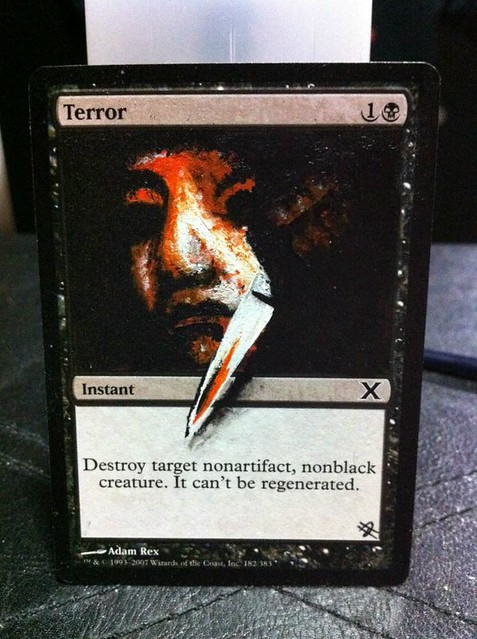 Terror Altered Art Magic the gathering art Terror MTG Black Magic artwork Terror Magic card artwork