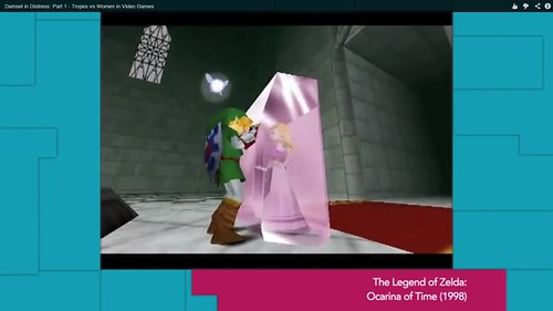 Zelda's Ocarina of Time kidnapping featured in Feminist Frequency's Tropes vs. Women part 1.