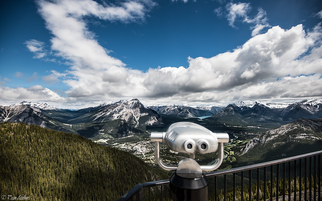Looking Down on Banff