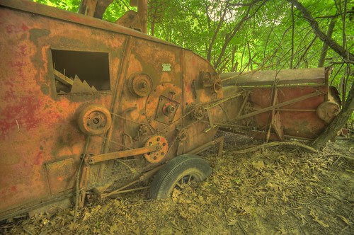 Abandoned bulldozer, Normanskill Creek, Delmar, N.Y.