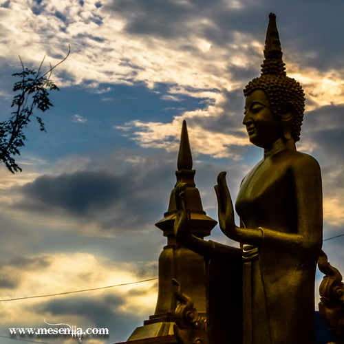 Buda del temple de Vang Vieng
