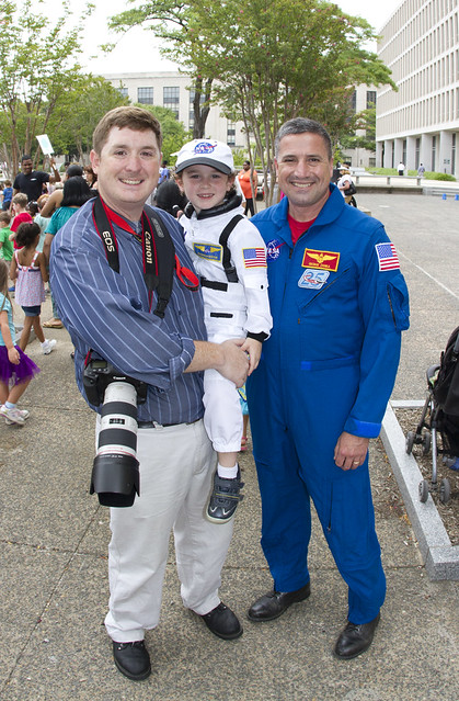 Me, Oscar and Astronaut George Zamka