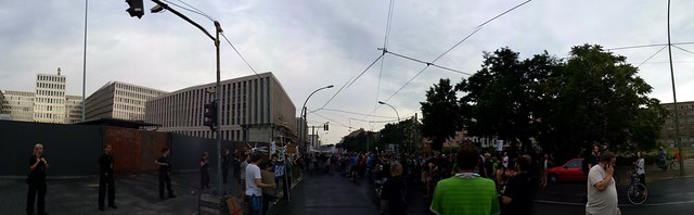 Demo in front of BND Headquarters