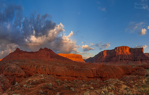 morning storm weather clouds sunrise landscape glow desert monsoon moab southernutah mesa castlevalley