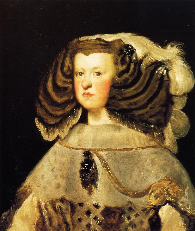 10. La reina Mariana de Austria. Diego Velázquez. Óleo sobre tela. 1655-57