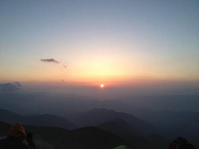 乗鞍岳 富士見岳 御来光