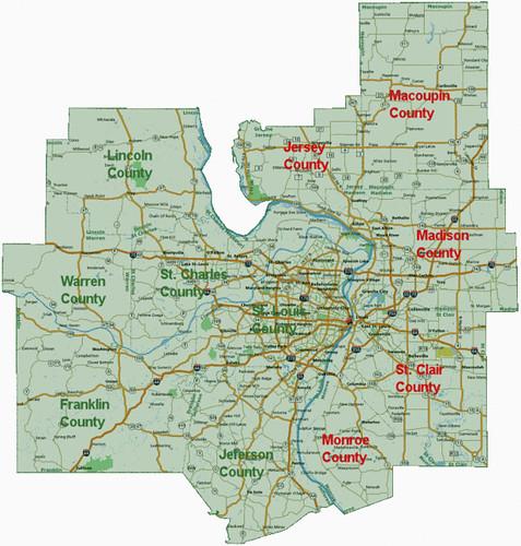 STL MSA map
