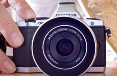 OM-D with 17mm Lens and Metal Hood