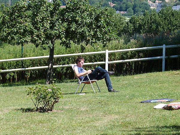 lecture au jardin
