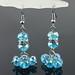 Small photo of De chique Blue Crystal + diamanten oorbellen