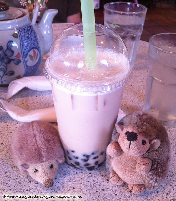 Sweet Red Bean Bubble Tea - Blue Koi, Kansas City, MO