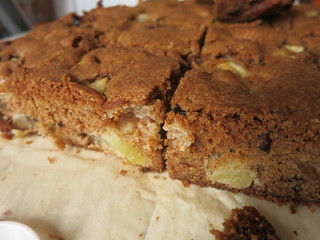 Sticky Spiked Double-Apple Cake