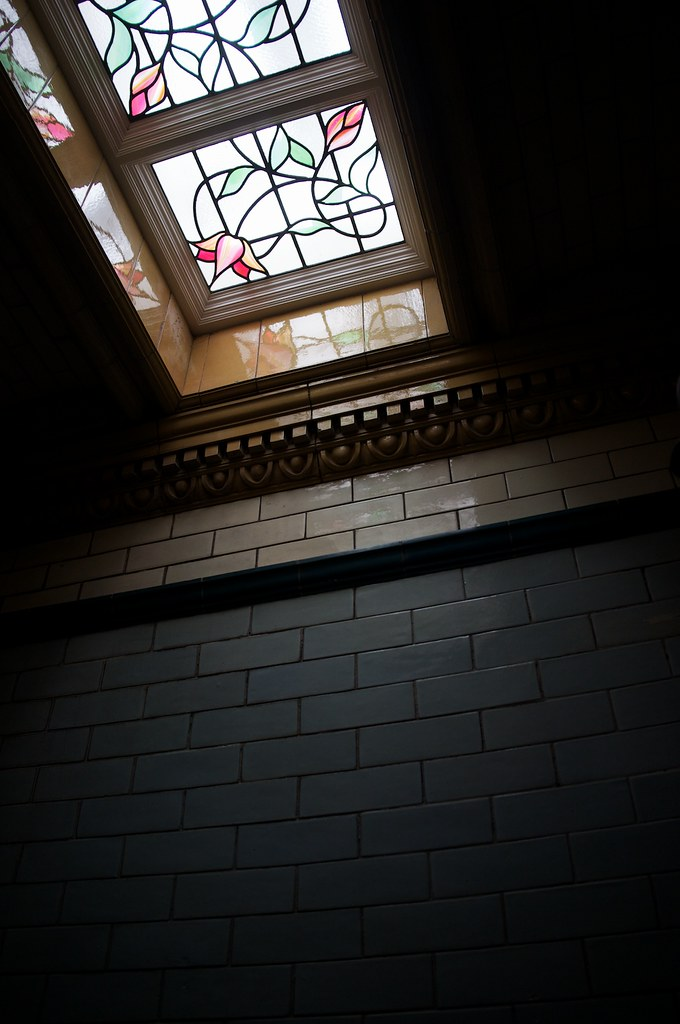 Stained glass, Victoria Baths