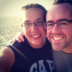 Graham and I at Zuma Beach, Malibu :)