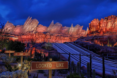 Radiator Springs Mountian Range by dvdarvas