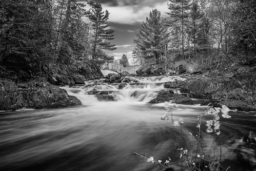 longexposure autumn blackandwhite ontario water nikon waterfalls peterborough cordova havelock movingwater d7100