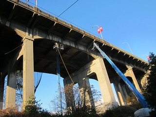 Working under the Burrard Bridge 2